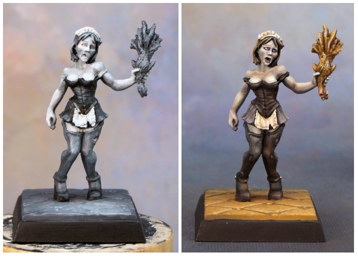 Value map and fully painted version of a figure.