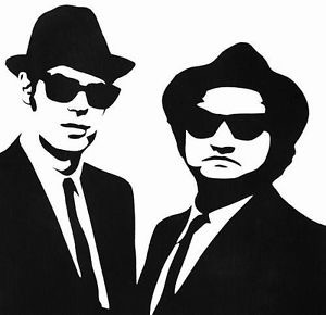 The Blues Brothers in black and white