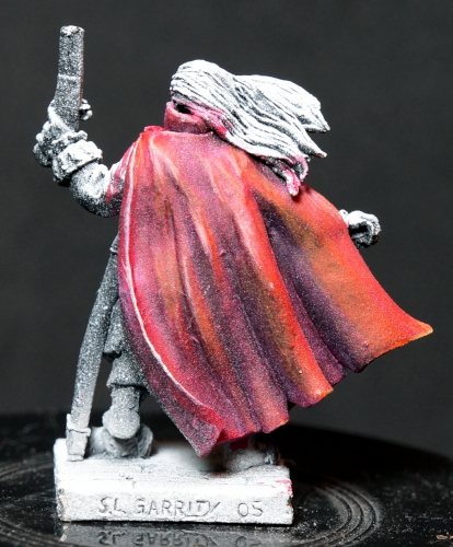 Example of glaze painted over zenithal priming.
