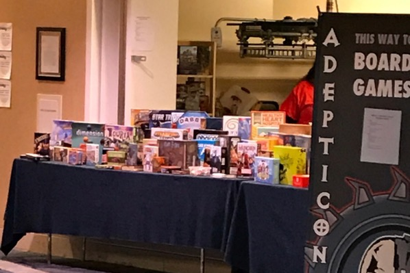 Board Game library at AdeptiCon