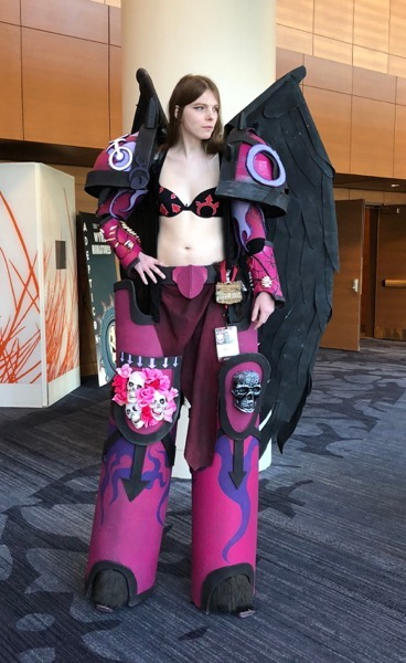 A costumer at AdeptiCon 2018.
