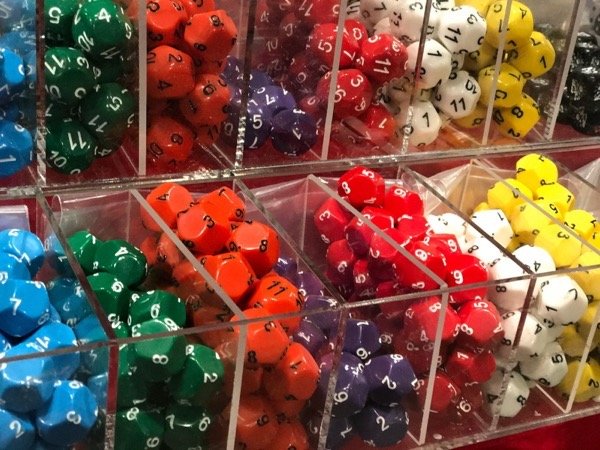 Vendor selling dice