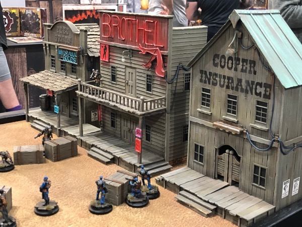 A vendor selling cool Western buildings