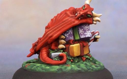 Christmas Dragon.Christmas Dragon Hoard 12 Days Of Reaper Bird With A Brush