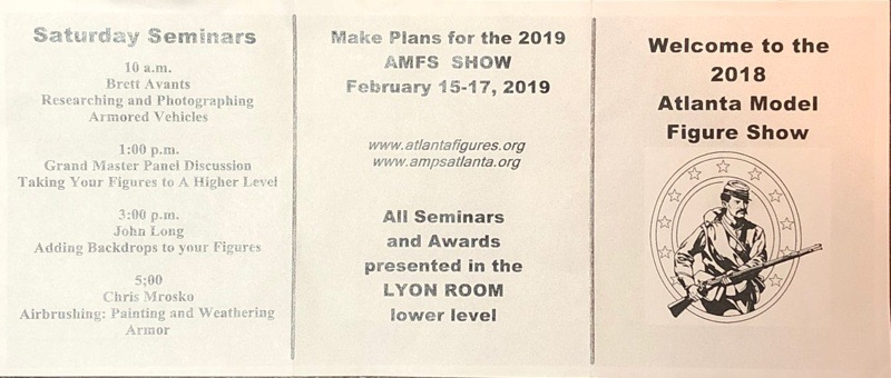 Scan of schedule for AMFS 2018