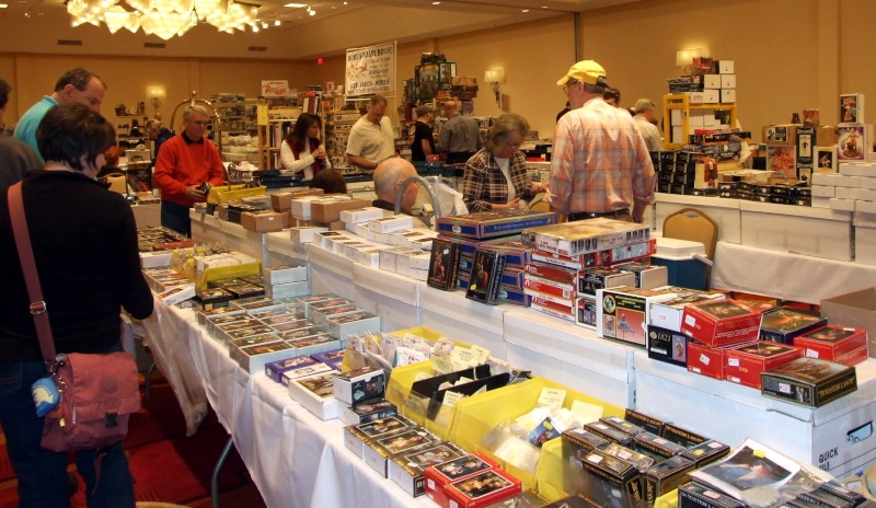 Vendor tables at Atlanta military figure show