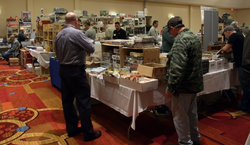 More vendor tables at Atlanta military figure show