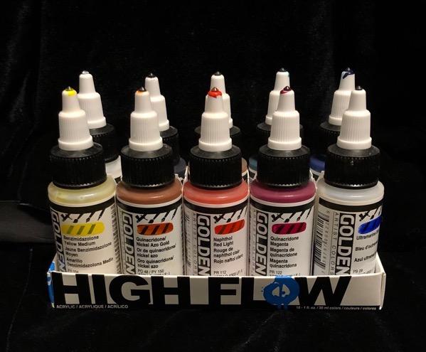 Golden High Flow paints