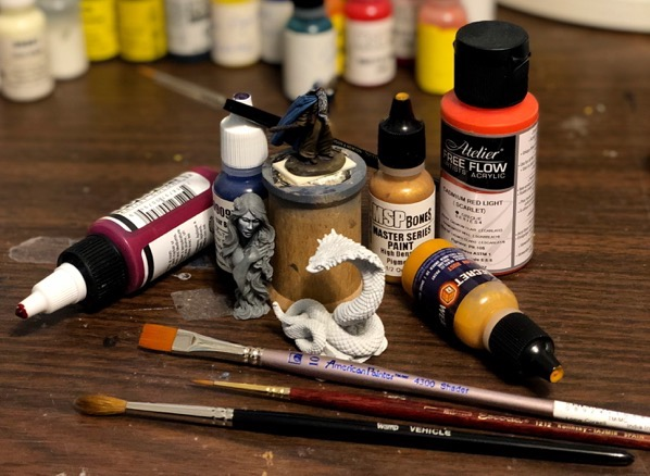 Paints and tools