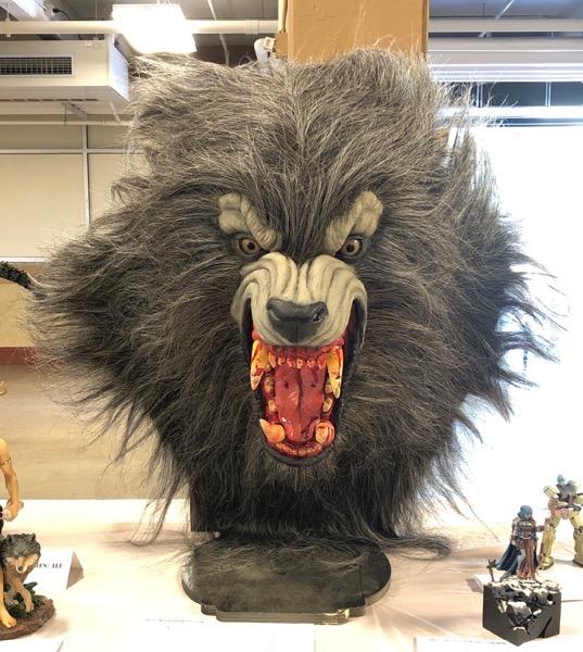 Werewolf Head - life size
