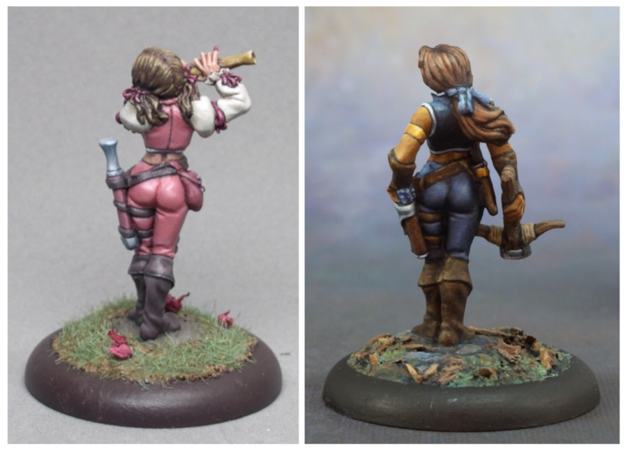 Tara and Anwyn, back views