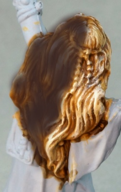 Example of drybrushed hair