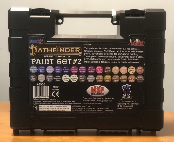 Back of Pathfinder paint set #2