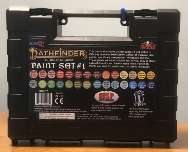Back of Pathfinder paint set box #1