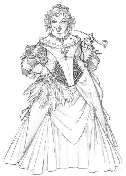 Madame Delia Sketch  1