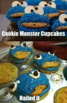 B7c51b4ee4657ad9f63535048235526e cookie monster cupcakes sheep cupcakes