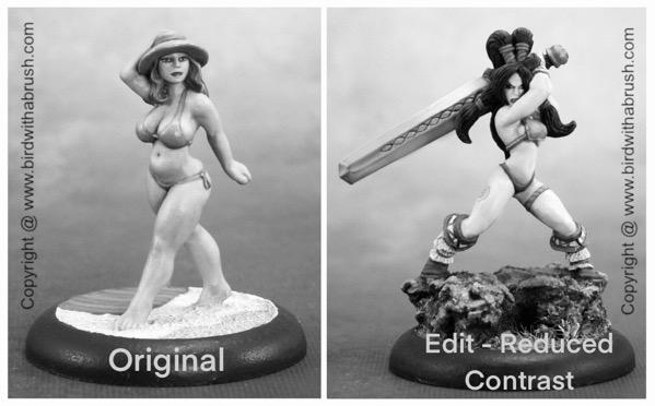 Libby vs Eriu in black and white