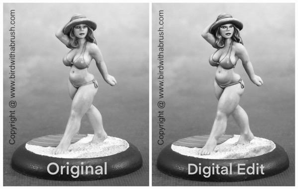 Libby original vs edit in grayscale