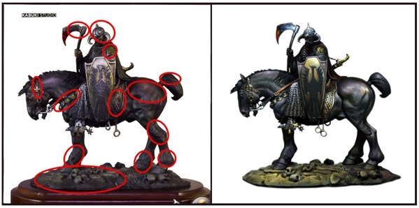 Death dealer minis contrast