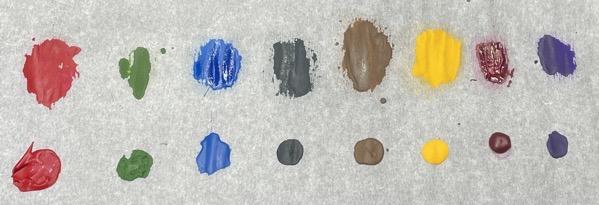 Dilution palette colour dry