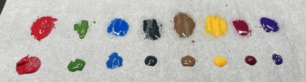 Dilution palette colour